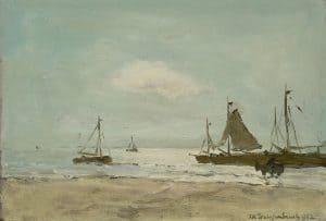 Hendrik Johannes Weissenbruch | Aan het strand