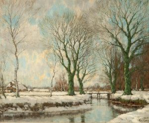 Arnold Marc Gorter | De Vordense beek in de winter