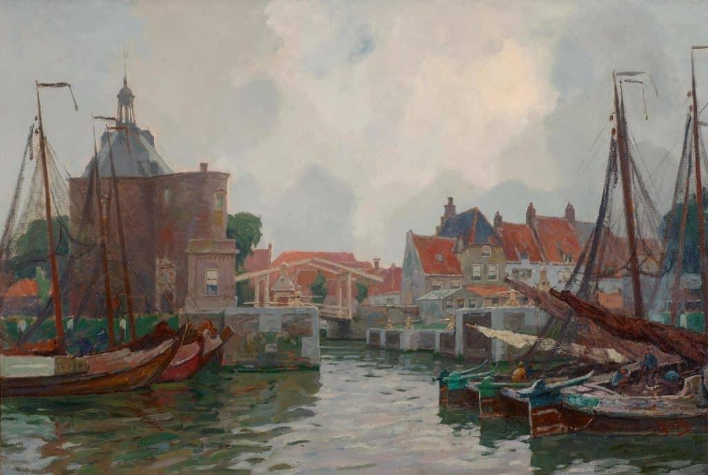 Hendrik Jan Wolter | Bedrijvigheid in de haven van Enkhuizen