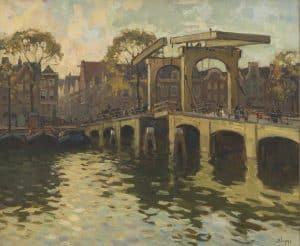 Ben Viegers   Gezicht op de Magere Brug in Amsterdam