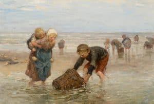 Bernardus Johannes Blommers | De garnalenvangst van de visserskinderen