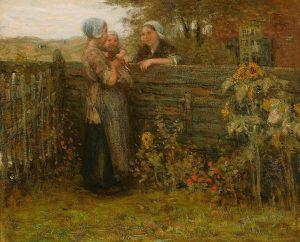 Bernardus Johannes Blommers | Praatje met de buurvrouw
