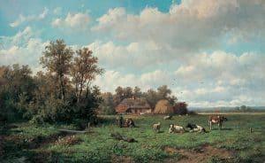 Anthonie Jacobus van Wijngaerdt | Bij de boerderij