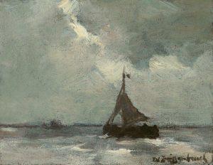 Hendrik Johannes Weissenbruch | Bomschuit op zee