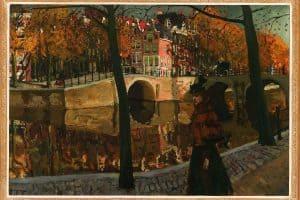 George Hendrik Breitner | Gezicht op de Keizersgracht, hoek Reguliersgracht te Amsterdam