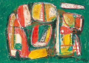 Jaap Nanninga | Compositie (groen)