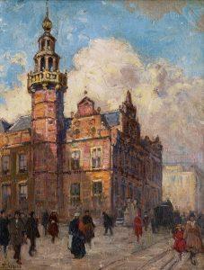 Ben Viegers | De Gravenstraat in Den Haag met het Oude Stadhuis