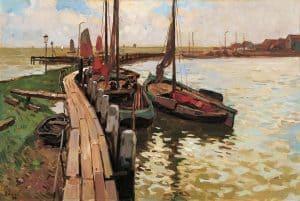 Ben Viegers   De haven van Volendam