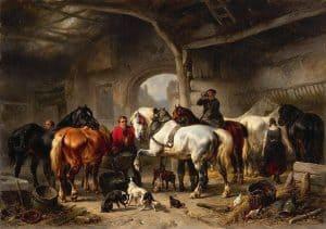 Wouterus Verschuur | De verzorging van de paarden
