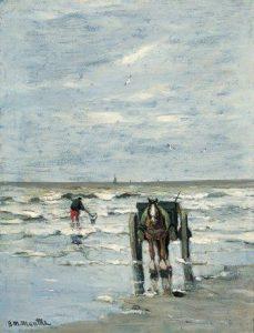 Gerhard Arij Ludwig 'Morgenstjerne' Munthe | Een schelpenvisser op het strand
