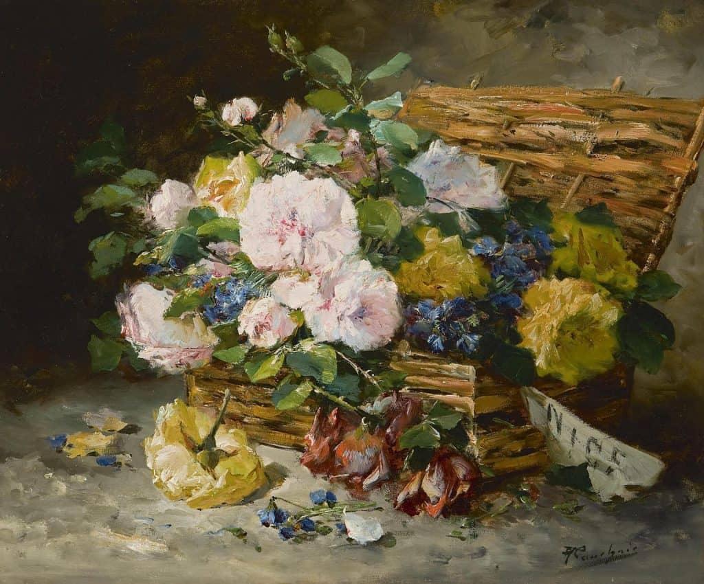 Eugène-Henri Cauchois   Mand met rozen