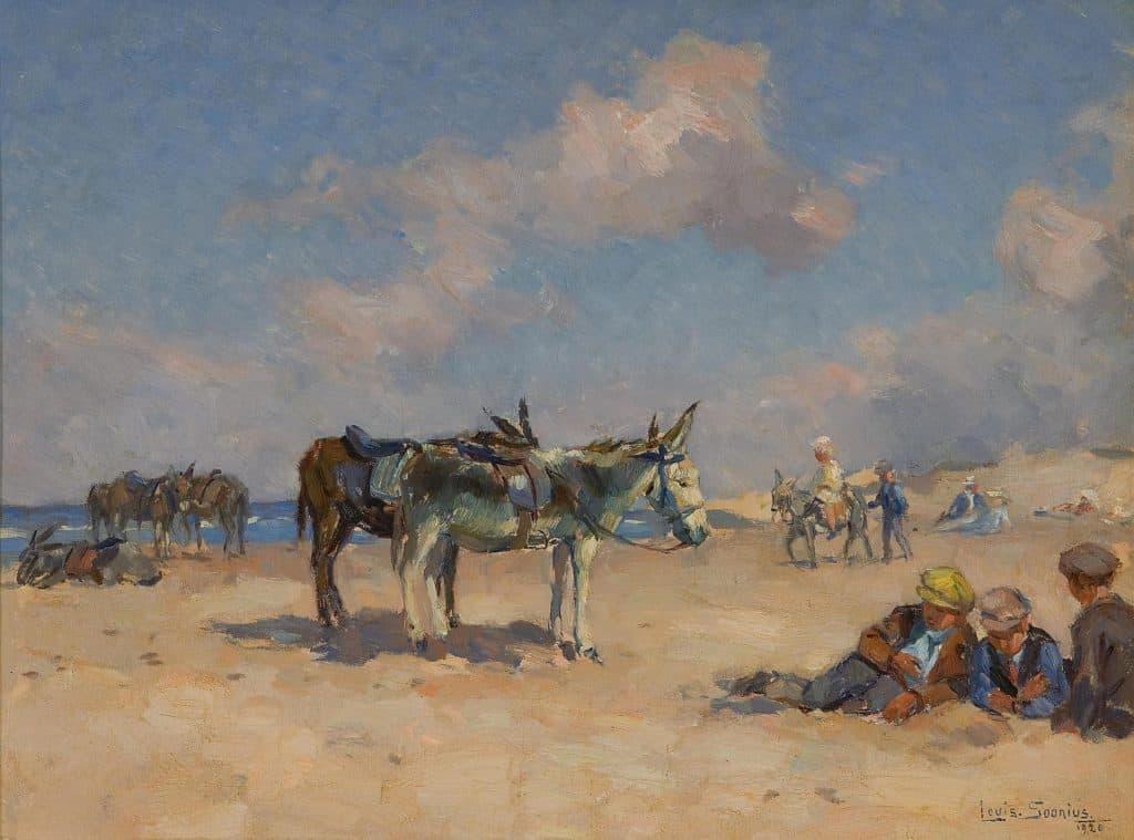 Louis Soonius | Ezeltjes op het strand