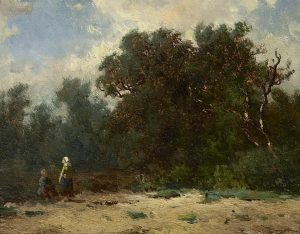 Hendrik Johannes Weissenbruch | Figuren aan de bosrand