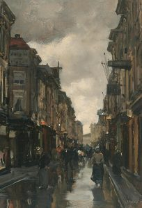 Floris Arntzenius | Figuren in de Spuistraat te Den Haag