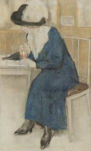 Leo Gestel | Dame in een café