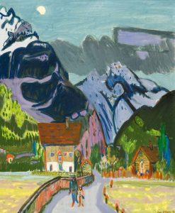 Jan Wiegers | Gezicht op Altdorf met op de achtergrond de Bristenstock, Zwitserland