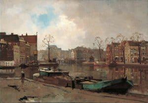 Cornelis Vreedenburgh | Gezicht op het Spaarne, Haarlem