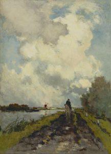 Hendrik Johannes Weissenbruch | Ruiter op een jaagpad bij Noorden