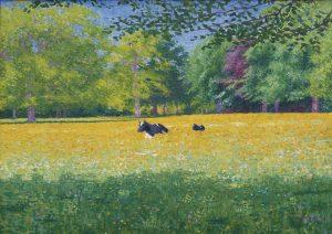 Ferdinand Hart Nibbrig | Rustende koeien in een zonnig landschap