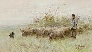 Anton Mauve | Herder met schaapskudde