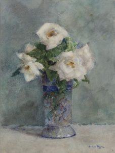 Herman Bogman | Witte rozen in kristallen vaas