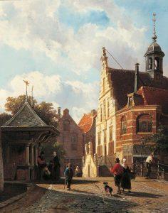 Cornelis Springer | Het stadhuis te Oudewater