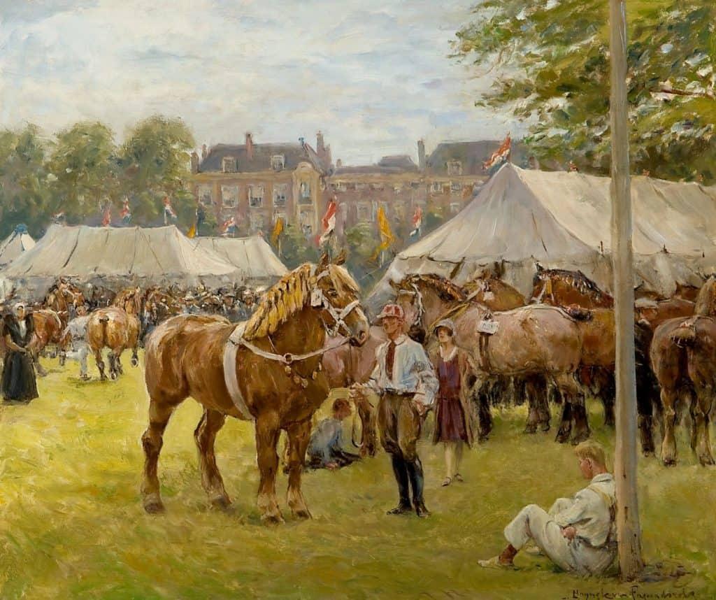 Jan Hoynck van Papendrecht   De nationale trekpaardententoonstelling op het Malieveld