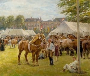 Jan Hoynck van Papendrecht | The national draft horse exhibition on the 'Malieveld', The Hague