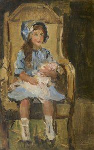 Isaac Israëls   Girl in blue dress