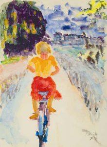 Jan Altink   Meisje op de fiets