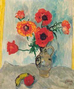 Jan Altink   Stilleven met bloemen in een vaas