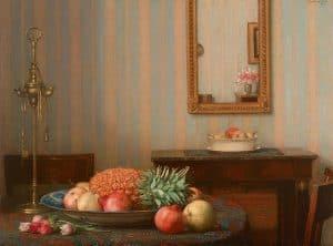 Jan Bogaerts | Interieur met fruitschaal