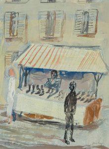 Jan van Heel | Market stall with shoes