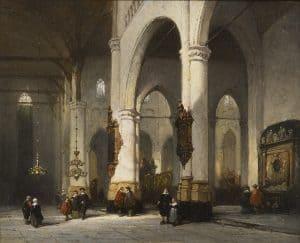 Johannes Bosboom | De St. Laurenskerk te Rotterdam