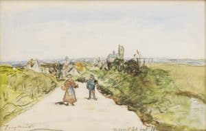Johan Barthold Jongkind   Gezicht op Nevers