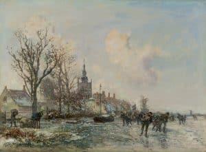 Johan Barthold Jongkind | Winterlandscape (Overschie)