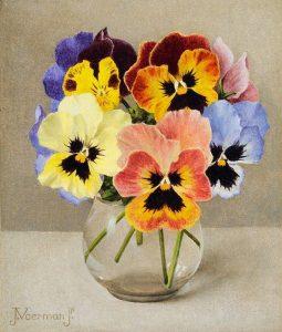 Jan Voerman jr. | Kleurige viooltjes in een glas
