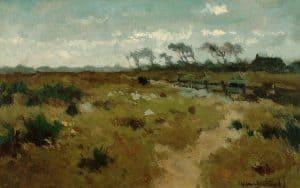 Hendrik Johannes Weissenbruch | Koe in een weids landschap