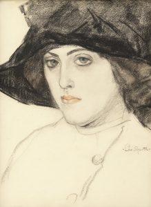 Leo Gestel   Woman with black hat