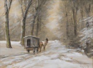 Louis Apol | Horse and carriage in the snow