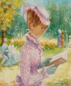 Marguerite Aers | Elegante dame in het park