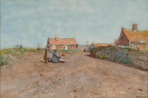 Jan Hillebrand Wijsmuller | Girls in the dunes (probably Katwijk)