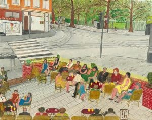 Joop Smits | A terrace near the Oosterpark in Amsterdam
