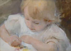 Paul Rink | Haar eerste schilderwerkje