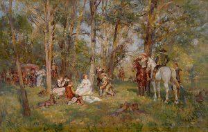 Wilhelm Velten | Picknicken in het bos