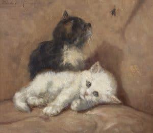 Henriëtte Ronner-Knip | Two little cats