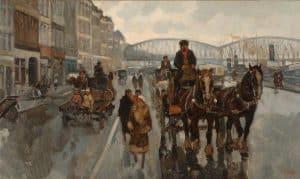 Cor Noltee | Sleperswagen te Rotterdam bij de Maasbrug