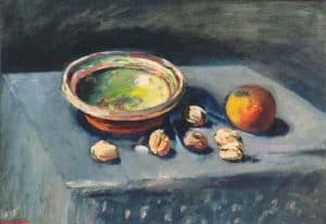Jan Wiegers | Stilleven met appels en noten