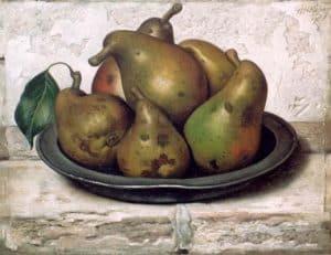 Gerard Röling | Stilleven met peren in een tinnen schaal