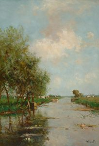 Victor Bauffe | Polder landscape with cows